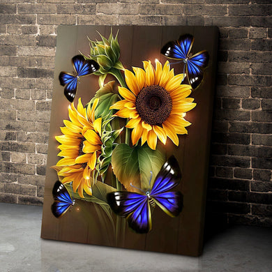 Canvas Butterfly Sunflower