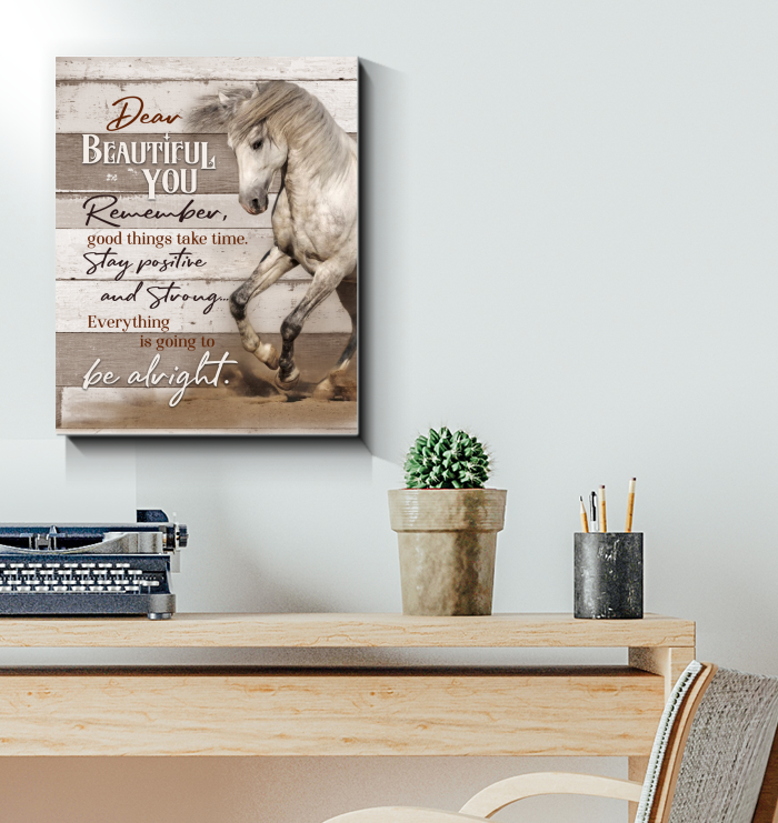 Horse Canvas Dear Beautiful You