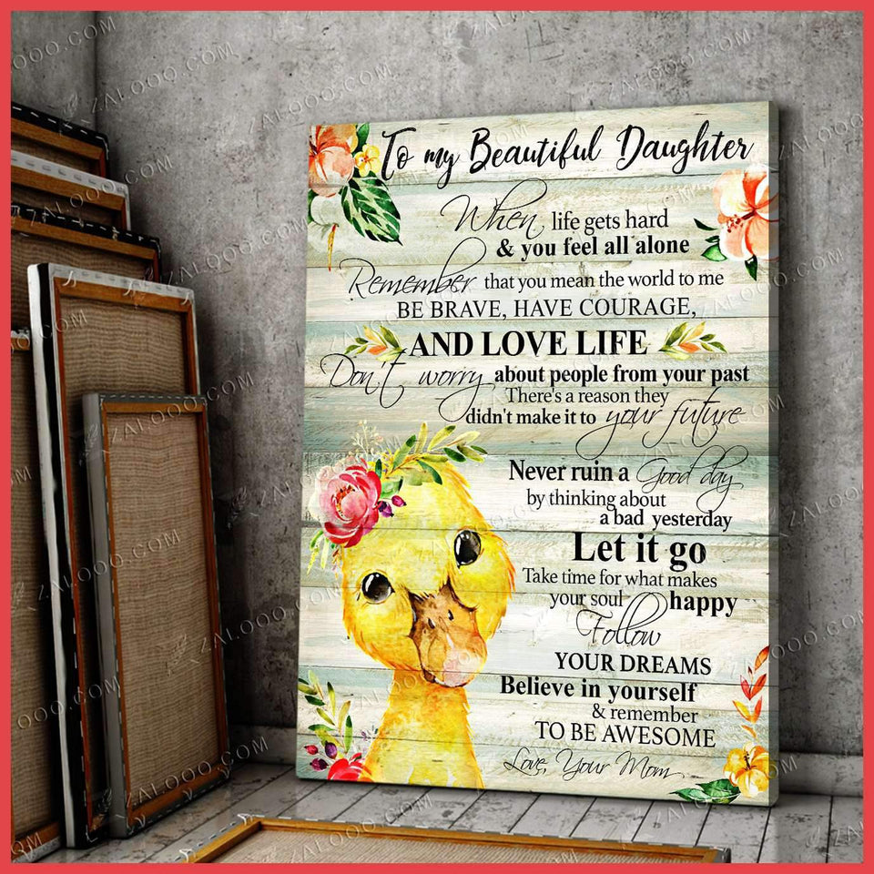 CANVAS - DUCKLING - Daughter (Mom) - Remember to be Awesome - yenyenstore