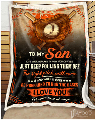 Hayooo Baseball Blanket Best Gift For Your Son I Love You Forever And Always