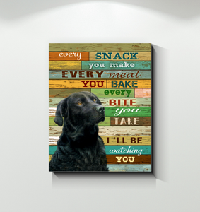 CANVAS - Golden Retriever - I'll be watching you (Black)