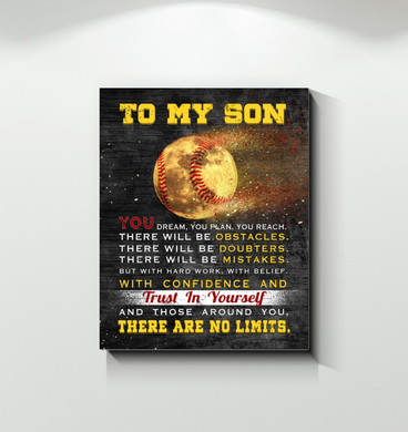 Baseball - Canvas - To My Son - There Are No Limits