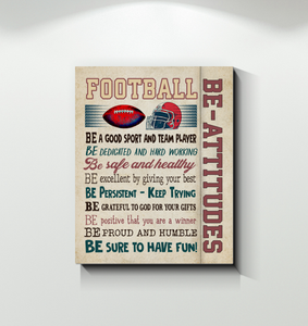 Football Canvas Be Attitudes