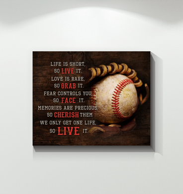Baseball - Canvas - Live It