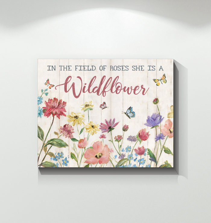 Canvas - Butterfly - Wildflower