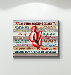 Boxing Canvas In This Boxing Ring Not Afraid To Be Great