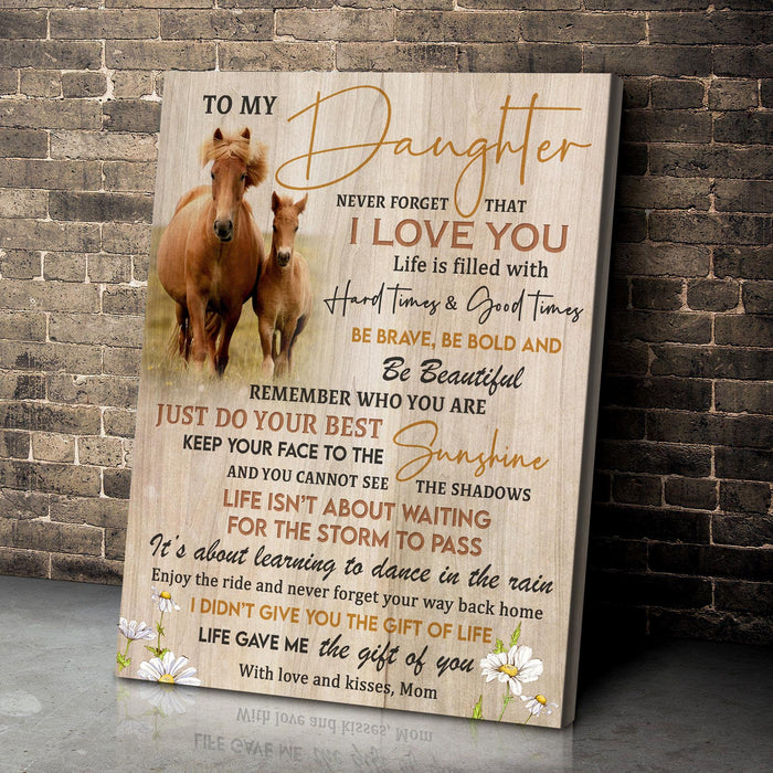 Canvas - Horse - To my daughter