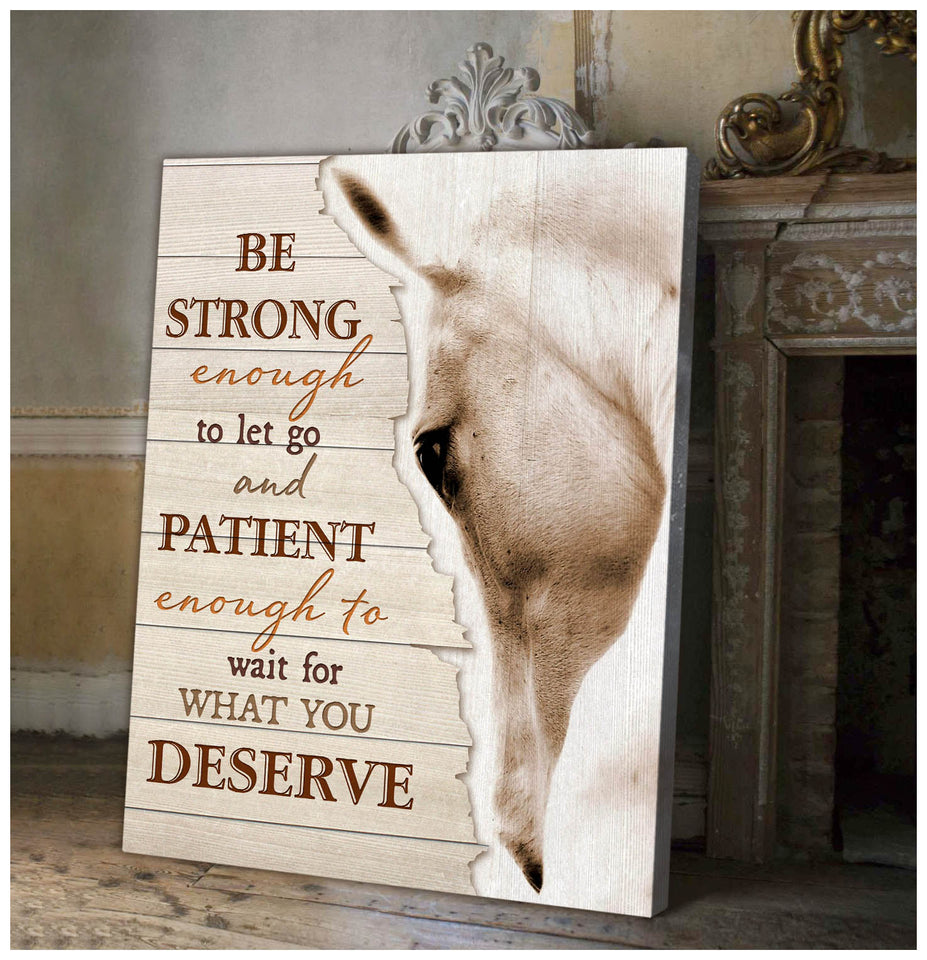 Canvas Horse Be Strong..