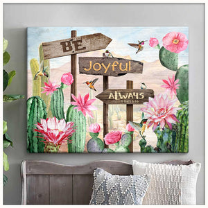 Canvas - Hummingbird - Be Joyful Always