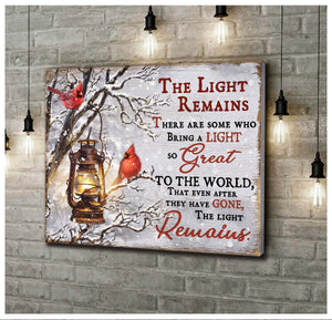 Canvas Cardinal The Light Remains