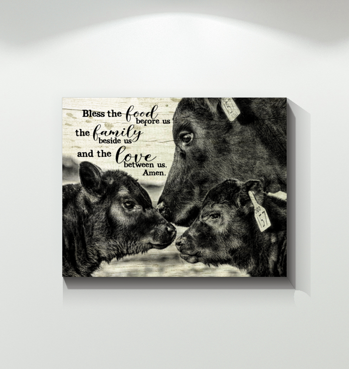 Cow Canvas Bless