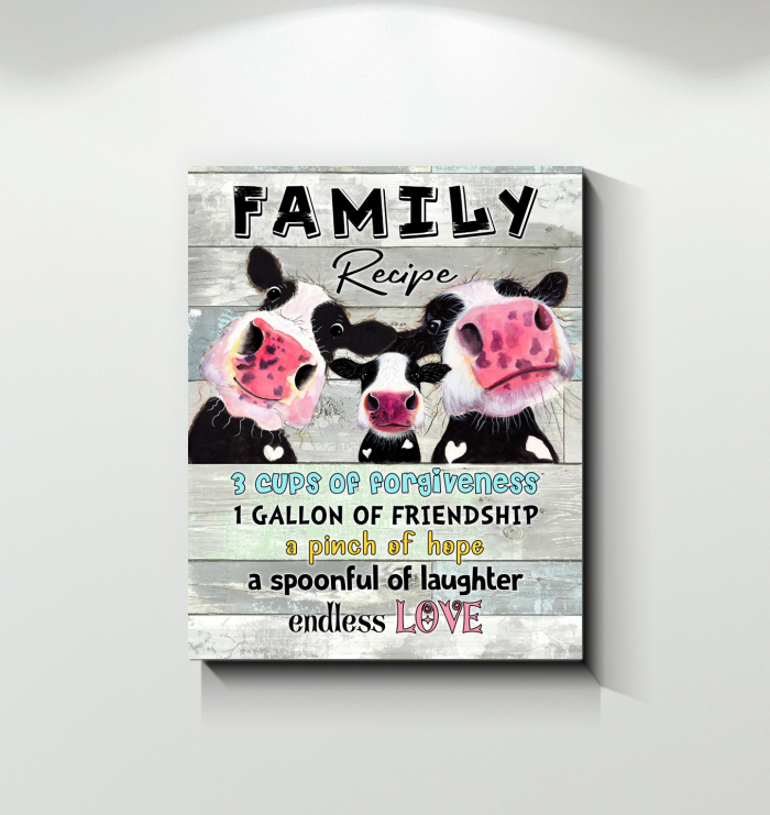 Cow Canvas Family Recipe