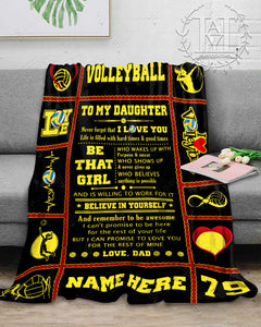 Hayooo Blanket Volleyball To my daughter Be that girl