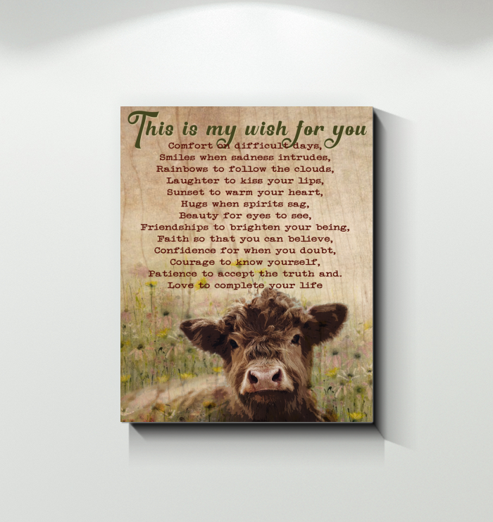Cow Canvas This Is My Wish For You