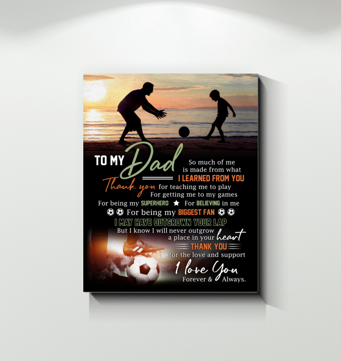 Soccer - Canvas - Thank You Dad
