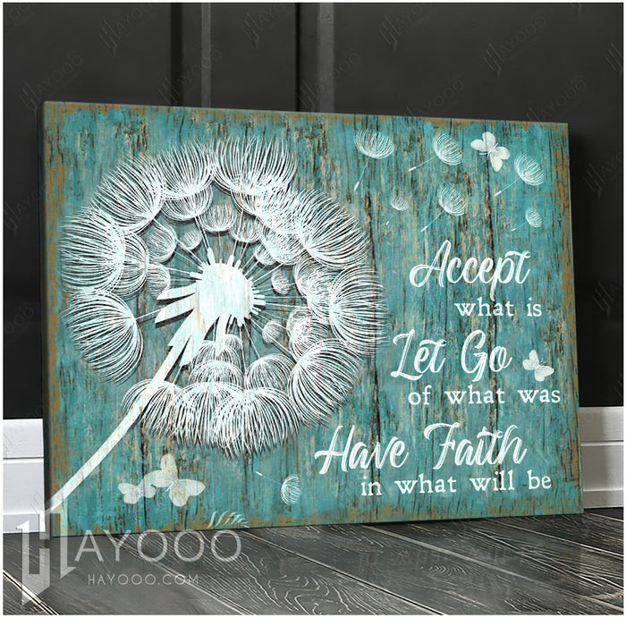 HAYOOO Top 10 Beautiful Dandelion With Butterflies Canvases Accept What Is Wall Art For Farmhouse Decor