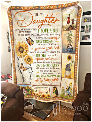Hayooo Beautiful Butterfly Sunflower Blanket Always Remember How Much I Love You