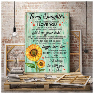 CANVAS - To My Daughter (Mom) - I'll always be with you - yenyenstore