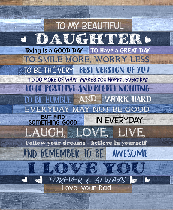 HAYOOO To My Beautiful Daughter canvas wall art decor