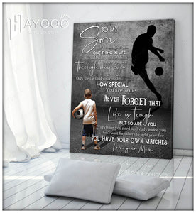 HAYOOO To my Son Canvas Wall Art Decor gift for your son Life is tough but so you are