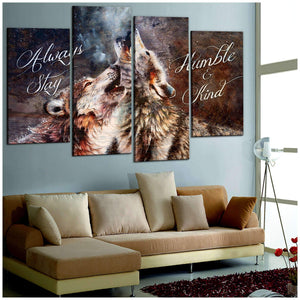 CANVAS - WOLF - Always Stay Humble and Kind - yenyenstore