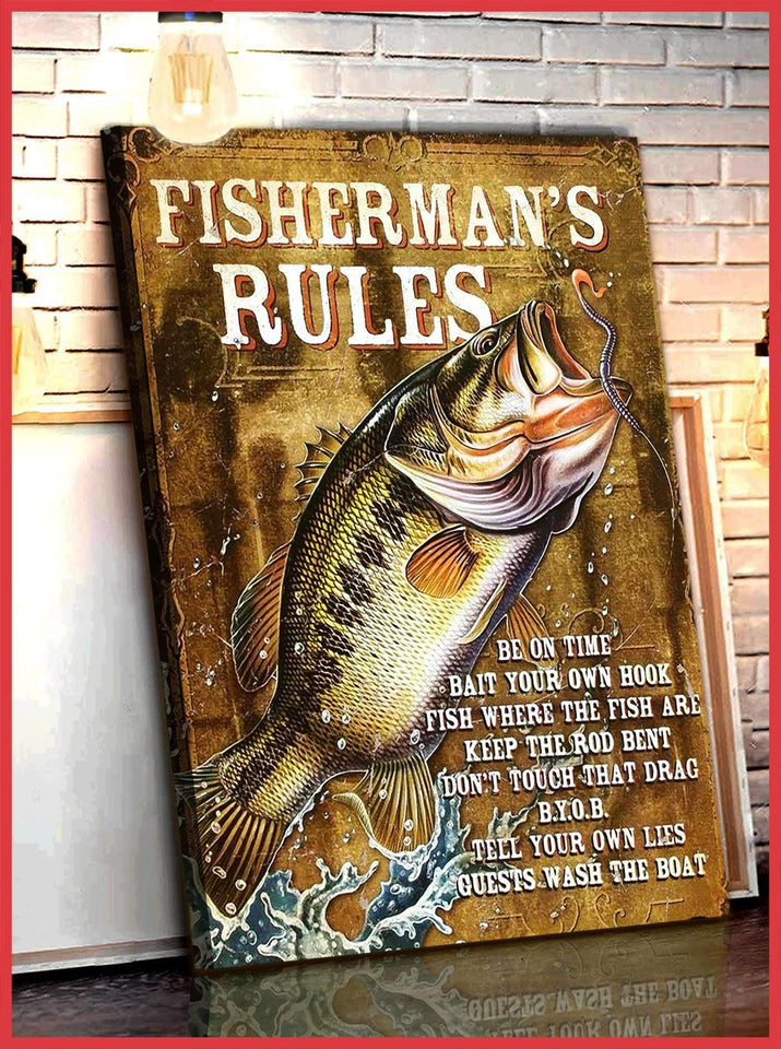 CANVAS - FISHERMAN'S RULES - yenyenstore