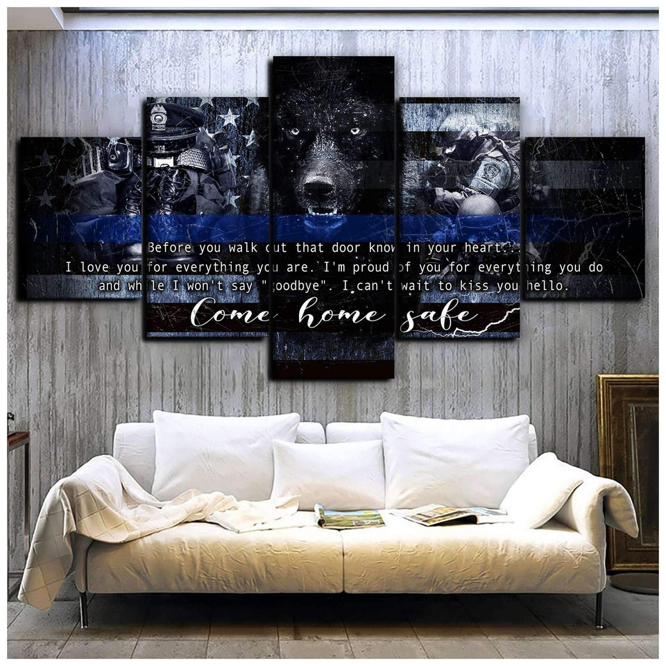 CANVAS - POLICE - Come home safe Ver2 (5 pieces) - yenyenstore