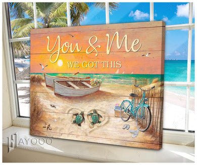 Hayooo  You And Me We Got This Turtles Canvas Wall Art Decor