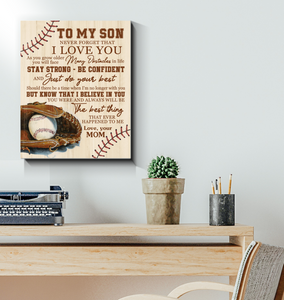 Hayooo The Best Thing Baseball Wall Art Canvas