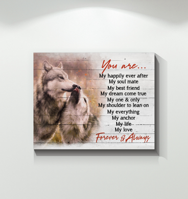 Hayooo You Are Forever & Always Wolf Canvas Wall Art Decor