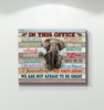 Elephant - Canvas - In This Office - Not Afraid To Be Great