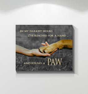 CANVAS - Dog - Found a Paw