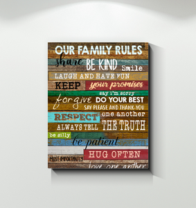 Family Canvas Family Rules
