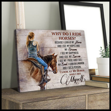 Hayooo Why Do I Ride Horses? Horse Canvas Wall Art Decor