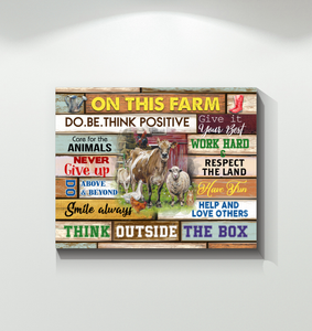 Farm Canvas Do. Be. Think Positive
