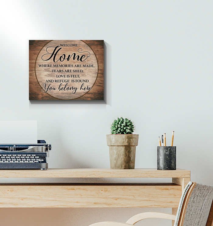 Family - Canvas - Welcome Home - You Belong Here