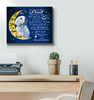 Canvas Golden Retriever Dad I Love You To The Moon And Back