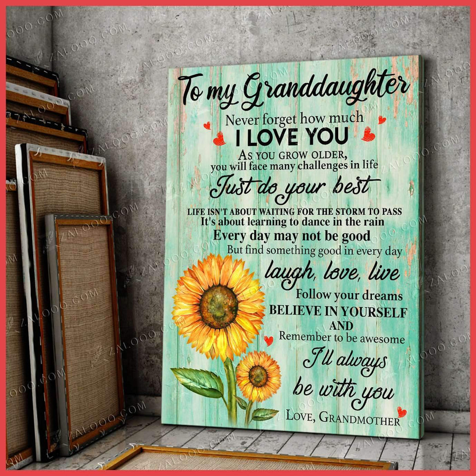CANVAS - To My Granddaughter (Grandmother) - I'll always be with you - yenyenstore