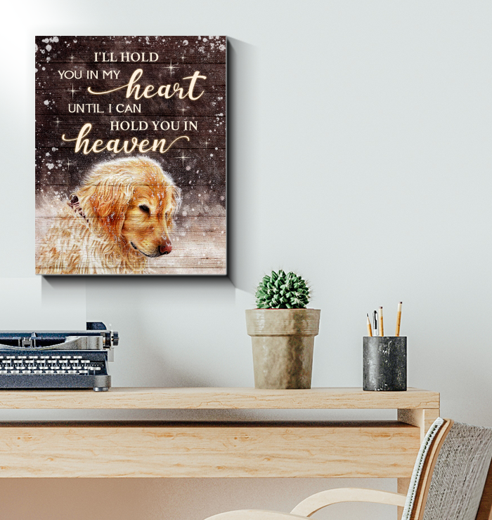 Canvas Golden Retriever I'Ll Hold You In My Heart