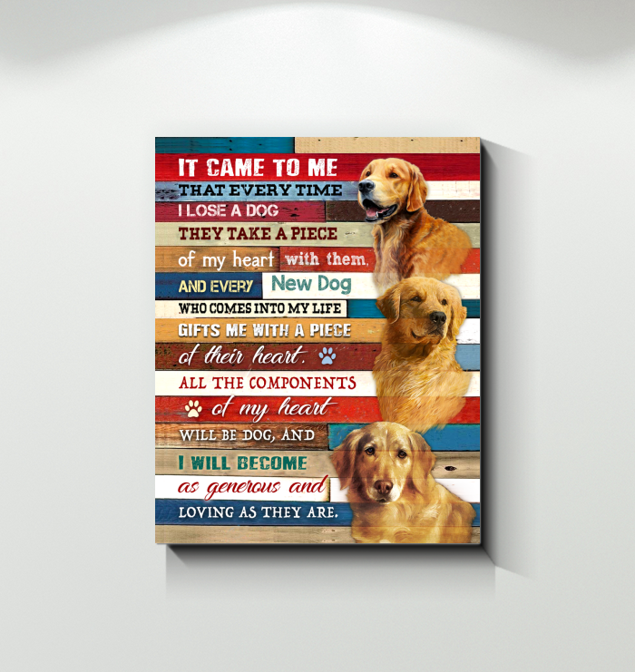 Canvas Golden Retriever It Came To Me