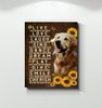 Canvas Golden Retriever Live Love Laugh