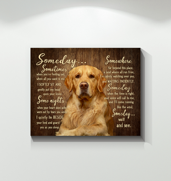 CANVAS - Golden Retriever - Someday