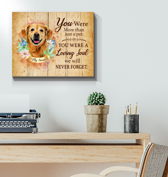 Canvas Golden Retriever You Were More Than Just A Pet
