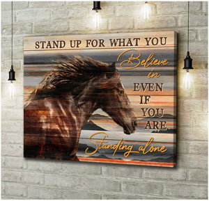 Canvas Horse Believe In