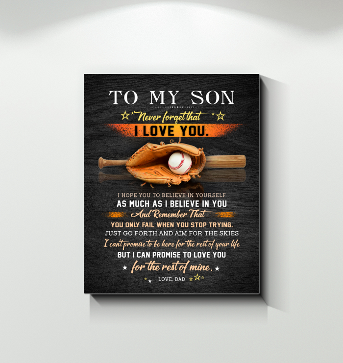 Baseball - Canvas - I Believe In You copy