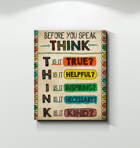 TEACHER CANVAS - Before you speak, think
