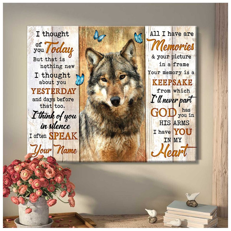 Canvas Wolf I Thought Of You