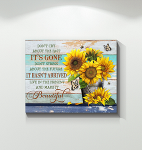 SUNFLOWER - Canvas - Live in the present