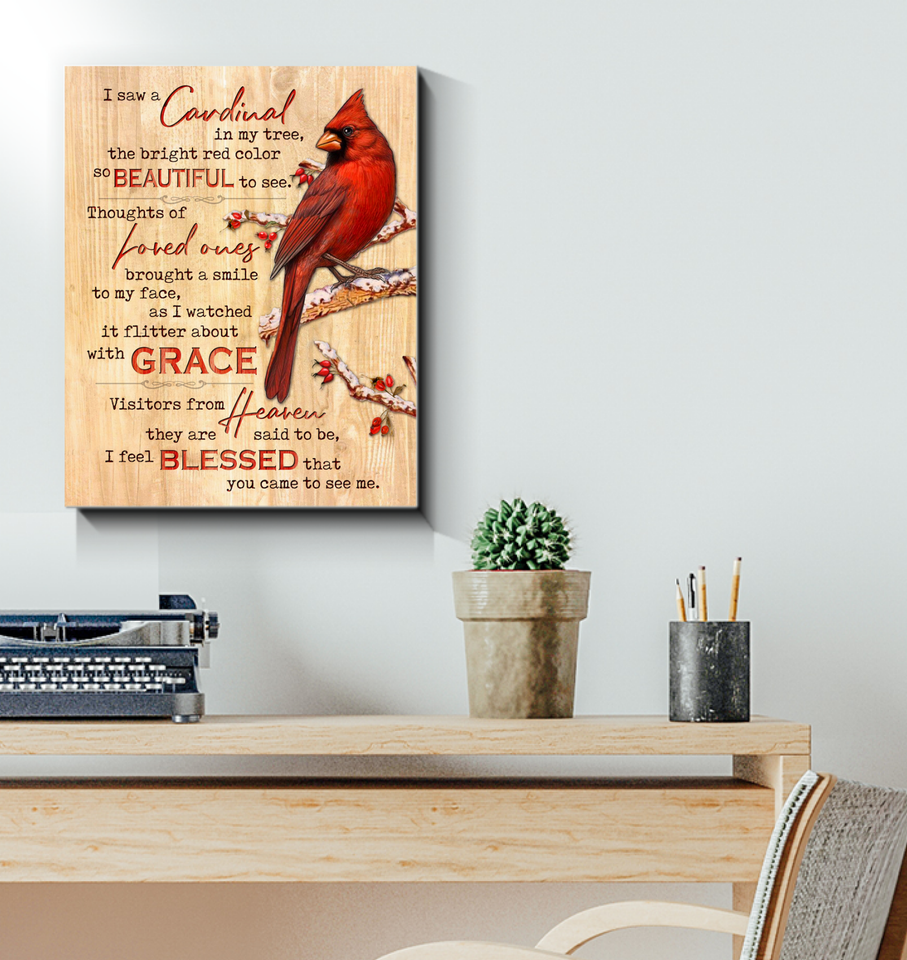 Canvas Cardinals I Saw A Cardinal - Hayooo Shop
