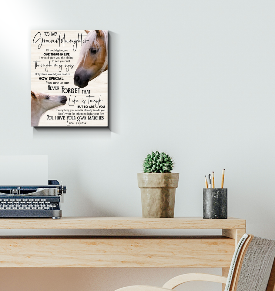 Horse - Canvas - To my granddaughter (Mimi) - You have your own matches